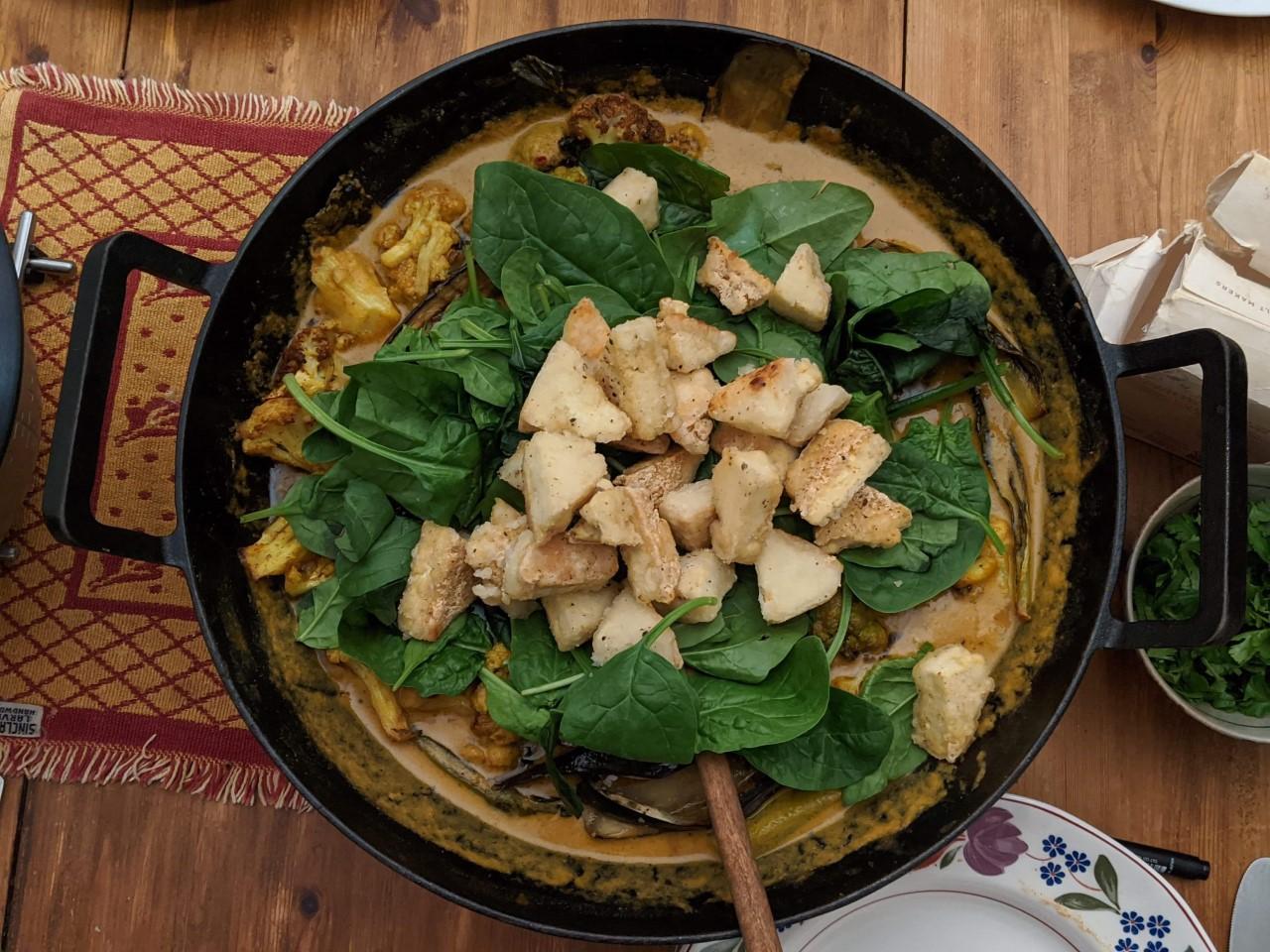 Aubergine Cauliflower Curry